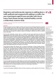 Respiratory and cardiovascular responses to walking ... - The Lancet