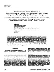 Respiratory Care Year in Review 2011: Long-Term Oxygen Therapy ...