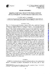 respiratory health effects from ambient silica exposure ...