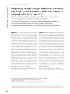 Respiratory muscle strength and thoracoabdominal mobility ... - Scielo.br