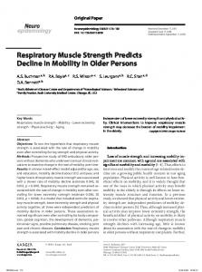 Respiratory Muscle Strength Predicts Decline in