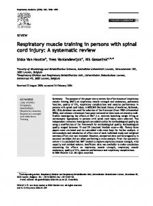 Respiratory muscle training in persons with spinal cord injury: A ...