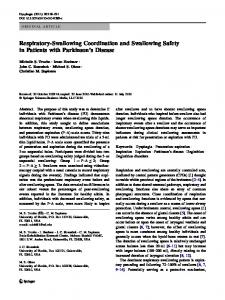 Respiratory-Swallowing Coordination and Swallowing Safety in ...