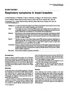 Respiratory symptoms in insect breeders