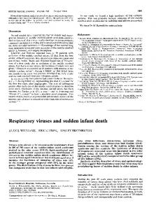 Respiratory viruses and sudden infant death.