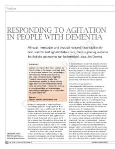 RESPONDING TO AGITATION IN PEOPlE wITh ...