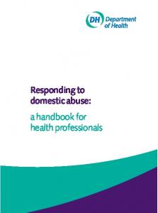 Responding to domestic abuse: a handbook for health professionals
