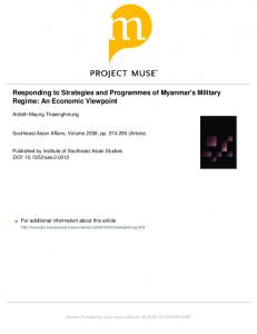 Responding to Strategies and Programmes of ...