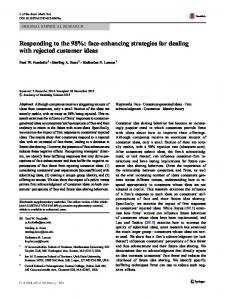 Responding to the 98%: face-enhancing strategies for dealing with ...