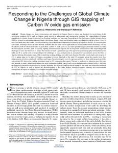 Responding to the Challenges of Global Climate Change in ... - Ijser