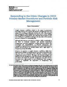 Responding to the Crisis: Changes in OECD Primary ... - OECD.org