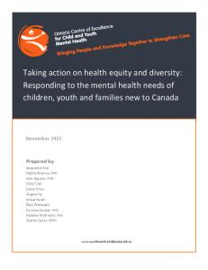 Responding to the mental health needs of children, youth