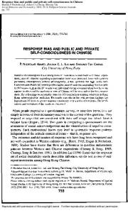 Response bias and public and private self-consciousness in Chinese