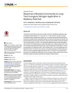 Response of Bacteria Community to Long-Term