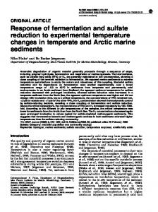Response of fermentation and sulfate reduction to experimental ... - Core