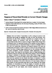 Response of Mycorrhizal Diversity to Current Climatic Changes - MDPI