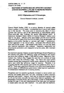 RESPONSE OF RAPID DECLINE AFFECTED COCONUT (COCOS ...