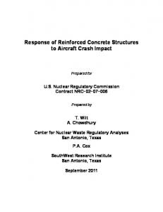 Response of Reinforced Concrete Structures to Aircraft Crash Impact.