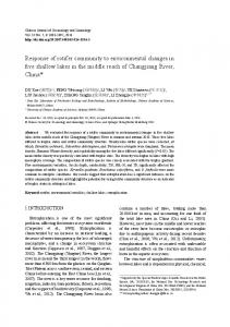 Response of rotifer community to environmental changes in five ...