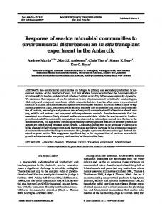 Response of sea-ice microbial communities to environmental ...