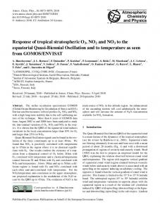 Response of tropical stratospheric O3, NO2 and ... - Atmos. Chem. Phys