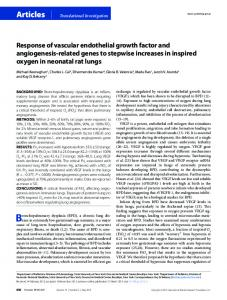 Response of vascular endothelial growth factor and ... - Nature