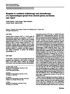 Response to combined radiotherapy and ... - Springer Link