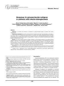 Response to polysaccharide antigens in patients with ataxia ... - Core