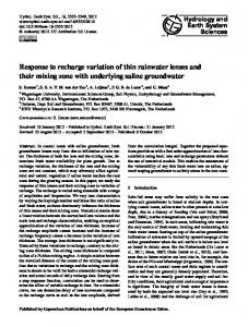 Response to recharge variation of thin rainwater lenses and their ...
