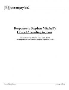 Response to Stephen Mitchell.pdf - The Empty Bell
