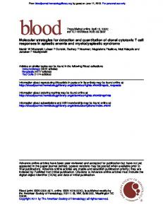 responses in aplastic anemia and myelodysplastic syndrome ...
