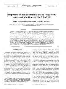 Responses of benthic meiofauna to long-term, low ... - Inter Research