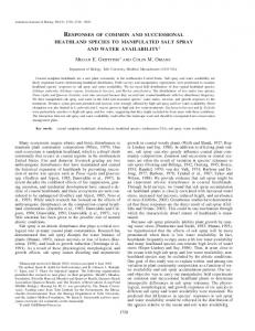 responses of common and successional heathland ... - Tufts University