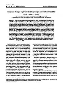 Responses of Fagus engleriana Seedlings to Light and Nutrient ...