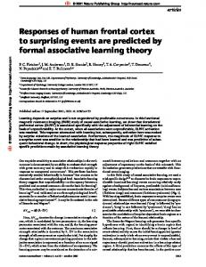 Responses of human frontal cortex to surprising events are predicted