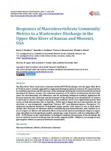 Responses of Macroinvertebrate Community Metrics to a Wastewater ...