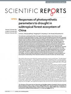 Responses of photosynthetic parameters to ... - Semantic Scholar