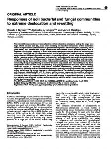 Responses of soil bacterial and fungal communities to ...