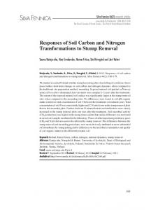 Responses of soil carbon and nitrogen transformations to stump removal