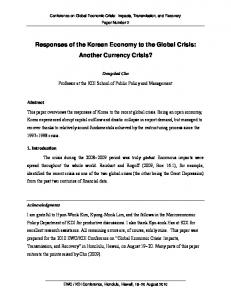 Responses of the Korean Economy to the Global Crisis: Another ...