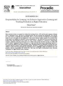 Responsibility for Learning: An Inclusive Approach to ... - Science Direct