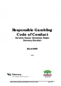 Gambling codes of conduct biggest ever win on roulette