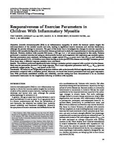 Responsiveness of exercise parameters in ... - Wiley Online Library