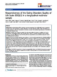 Responsiveness of the Eating Disorders Quality of