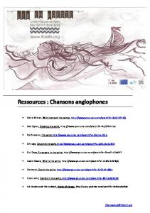 Ressources : Chansons anglophones