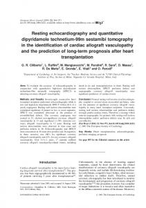 Resting echocardiography and quantitative ... - Semantic Scholar