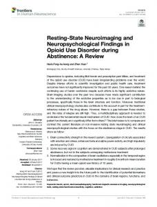Resting-State Neuroimaging and ... - Semantic Scholar