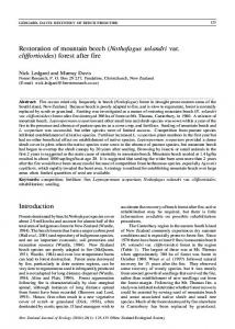 Restoration of mountain beech (Nothofagus ... - Semantic Scholar