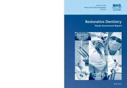 Restorative Dentistry - ScotPHN