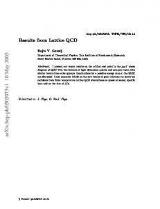 Results from Lattice QCD